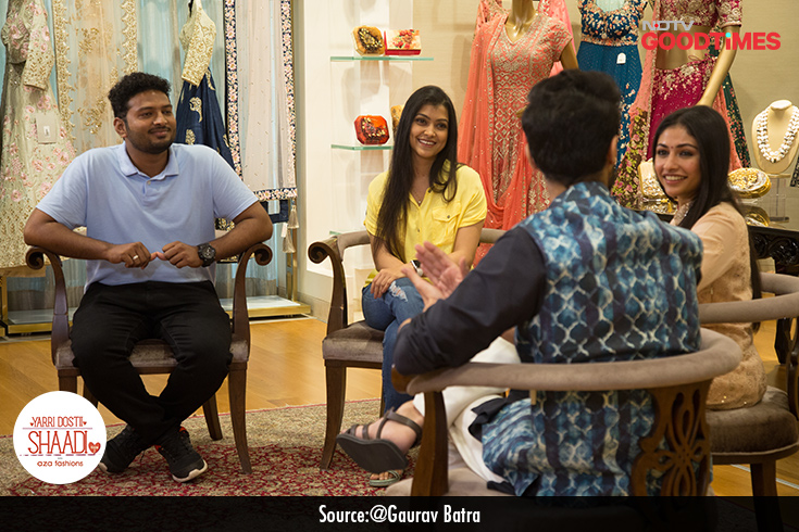 Areef and Ainsteena visited the Aza store to pick out their Nikaah outfits. With help from our chief stylist, Devangi Parekh, they found their favorites for the wedding.