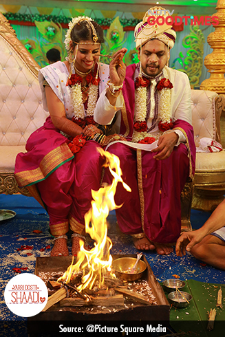 With their friends and family as witnesses, Jagdish and Padma take the seven pheras around the fire and promise to spend a forever together.