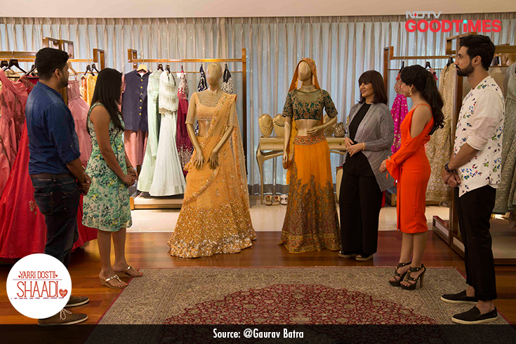 Our chief stylist Devangi surprised Padma by getting designer Neeta Lulla on board to style her for the Sangeet.