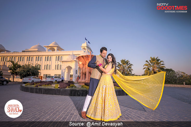 Sonika and Mukul look every bit royal, just like the palace they are getting married in
