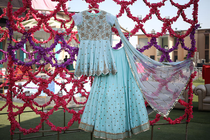Here's a glimpse of what Parul will wear at her mehendi.