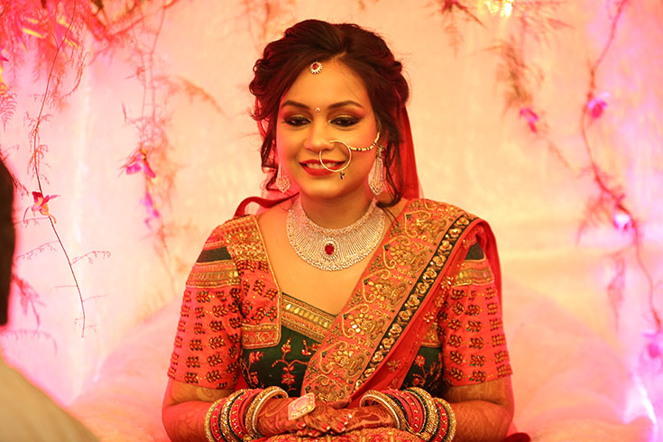 Parul, a vision of beauty as a bride, is all set for her life's biggest moment.