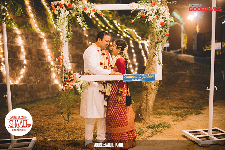 With Jahnavi entering the mandap, the wedding officially comes to an end. Our happy couple looks at each other as they realise that they have now found their happily ever after.